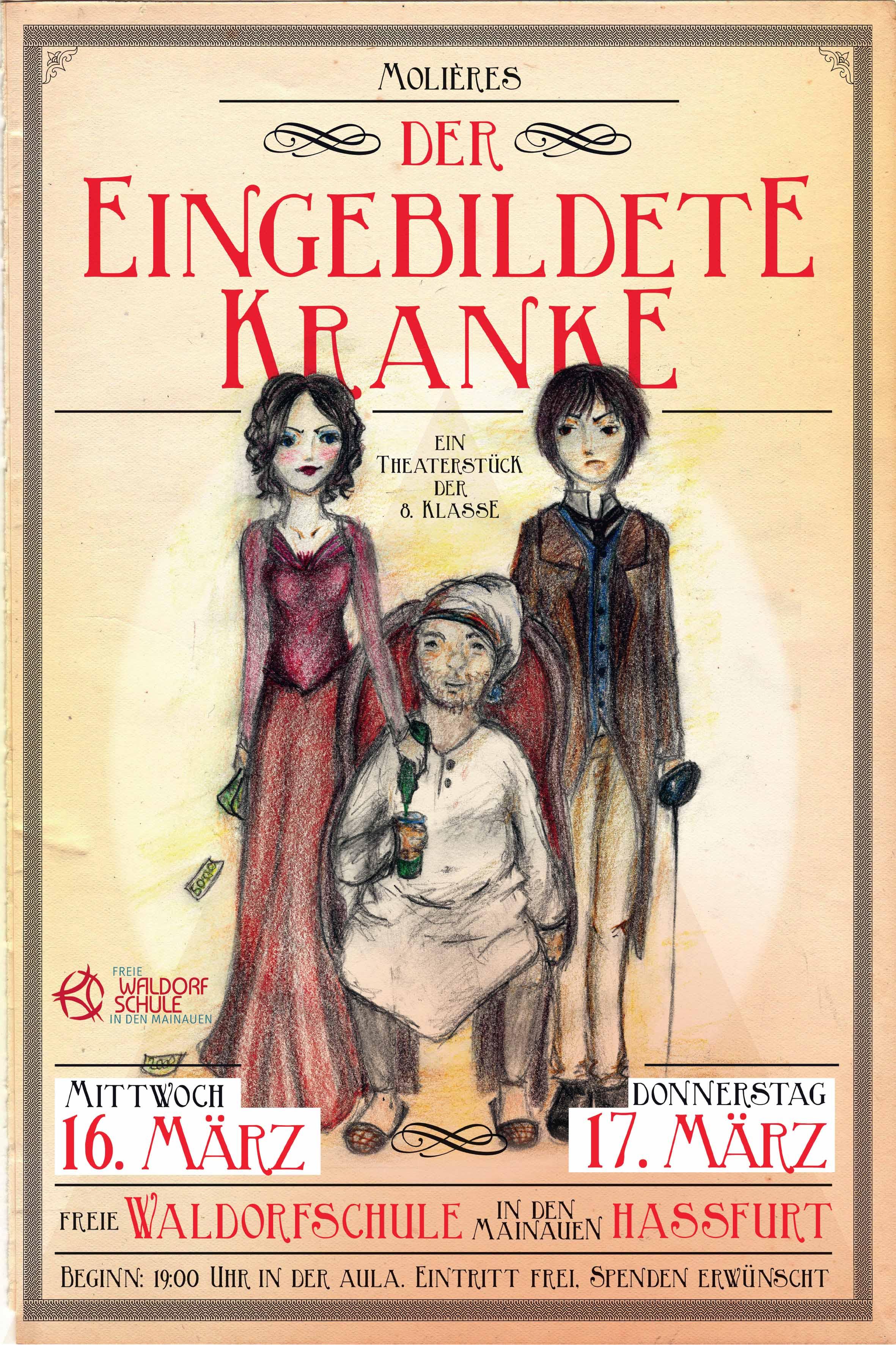 Theaterstück der 8. Klasse – Der eingebildete Kranke