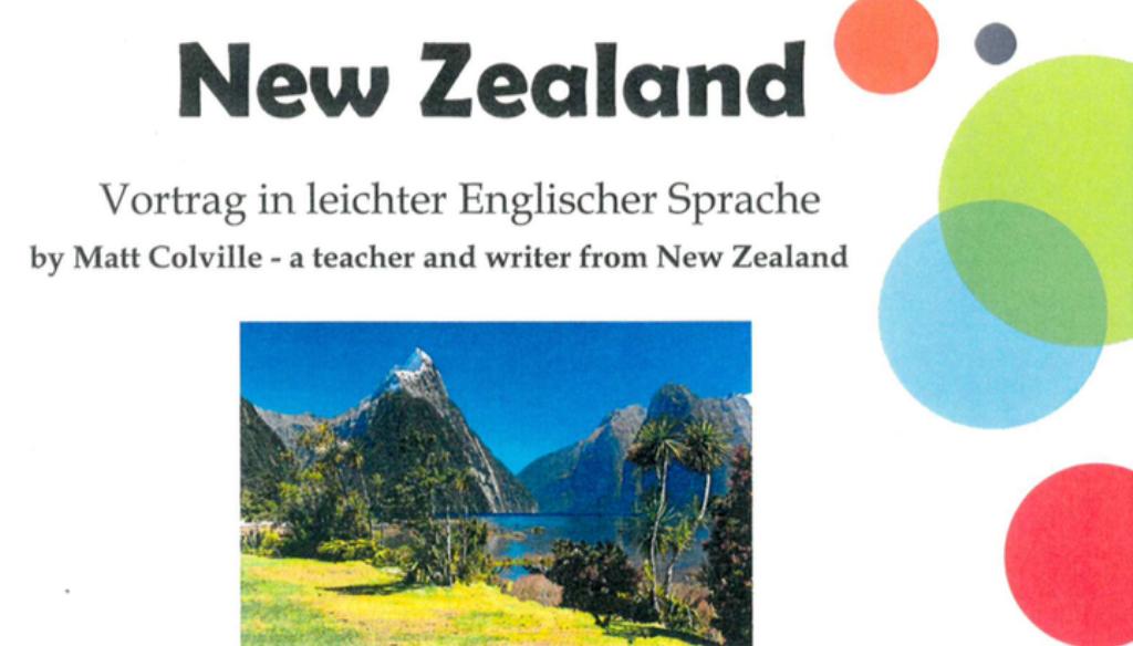 Vortrag New Zealand