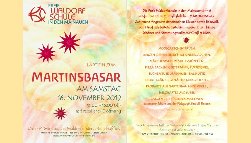Einladung zum Martinsbasar