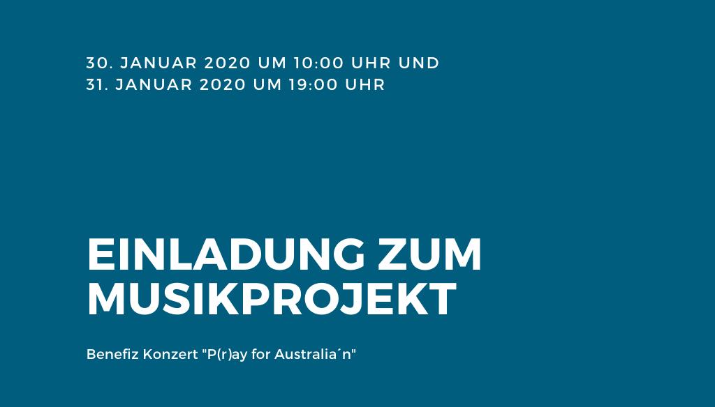 """Benefiz Konzert """"P(r)ay for Australia´n"""" – Musikprojekt der 11. Klasse"""