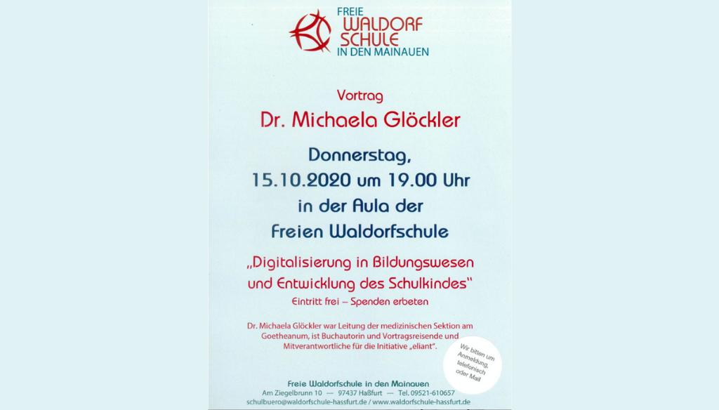 Vortrag über Digitalisierung im Bildungswesen – Dr. Michaela Glöckler