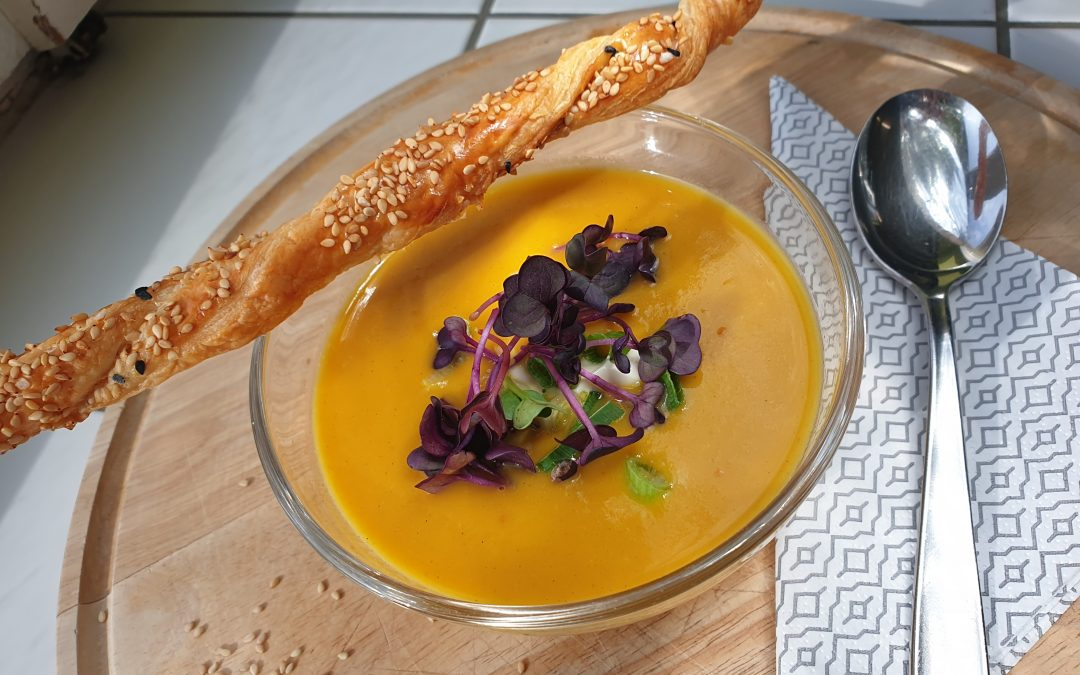 Rezepte aus der Schulküche – Kokos- Süßkartoffel-Suppe